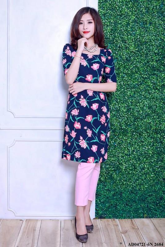Áo dài cách tân họa tiết hoa