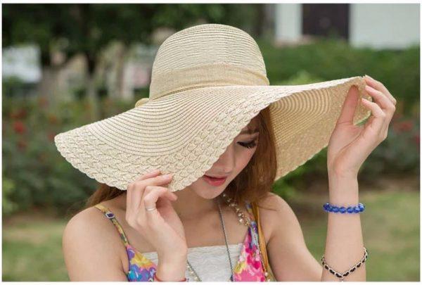 mũ rộng vanh-mix đồ với mũ cói cho nàng
