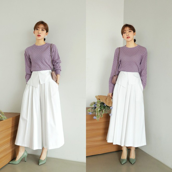 quần ống loe- mẫu quần dành cho nàng công sở