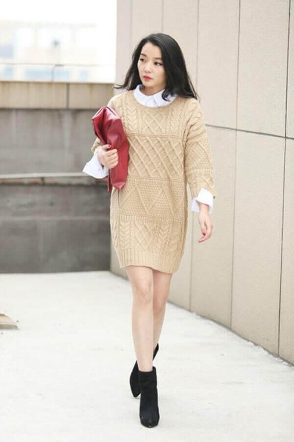 Cách mặc áo len dài