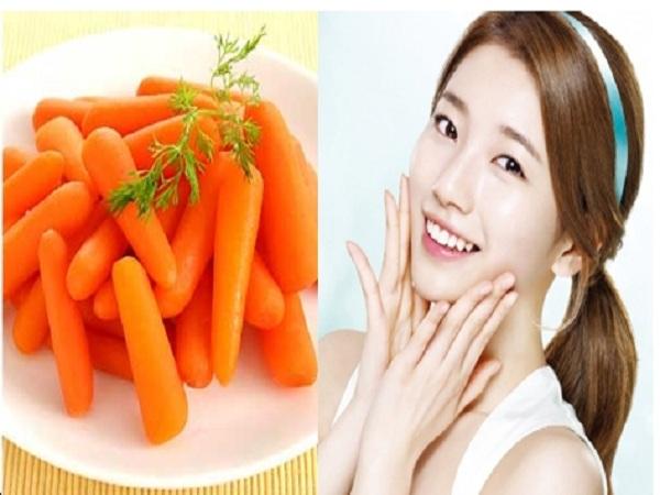 Mặt nạ trắng da từ cà rốt và chanh