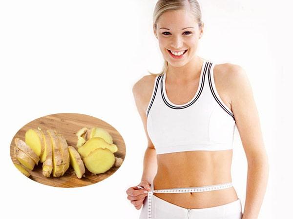 Mách nàng 6 công thức giảm mỡ bụng bằng gừng tươi hiệu quả