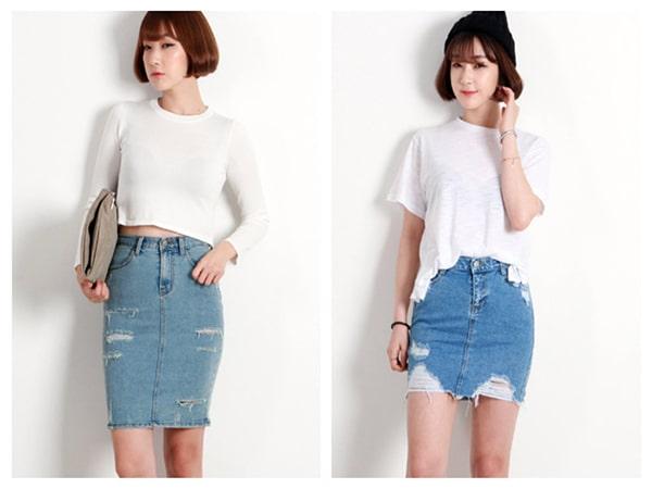 Chân váy jean - Xu hướng thời trang Hàn Quốc chưa bao giờ hết hot