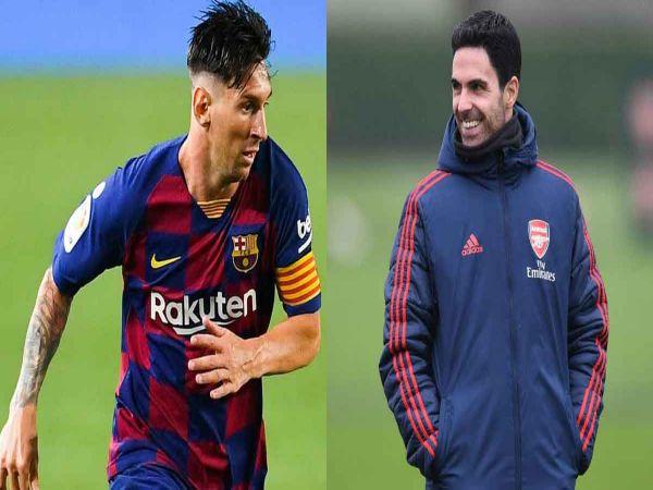 Mikel Arteta nói về khả năng Messi tới NHA