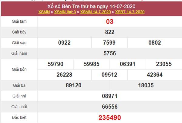 Dự đoán XSBT 21/7/2020 chốt KQXS Bến Tre thứ 3