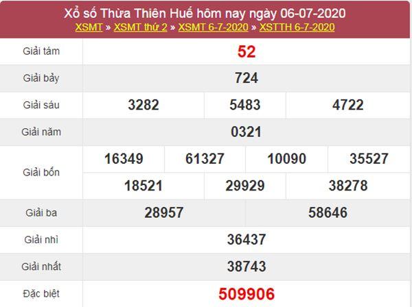 Soi cầu XSTTH 13/7/2020 - KQXS Thừa Thiên Huế thứ 2