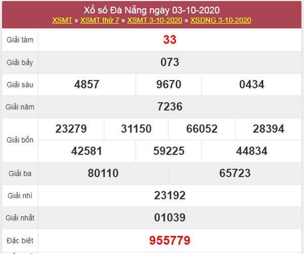 Thống kê XSDNG 7/10/2020 chốt số Đà Nẵng thứ 4 siêu chuẩn