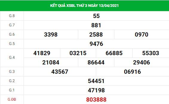 Soi cầu XS Bạc Liêu chính xác thứ 3 ngày 20/04/2021