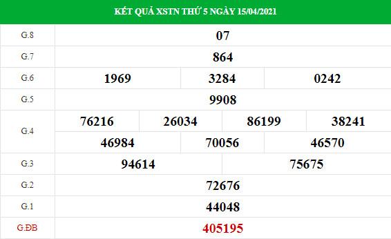 Soi cầu dự đoán XS Tây Ninh Vip ngày 22/04/2021